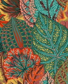 1/2 Yard Phillip Jacobs Coleus PJ30-Teal, Rowan Westminster Fibers, Inc. Cotton | eBay