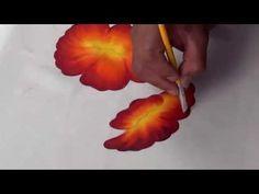 Flor de Cucarda Pintada en Tela (1/2) - YouTube
