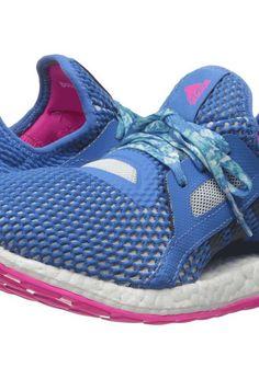 adidas Running Pureboost X (Shock Blue/Halo Blue/Shock Pink) Women's Running Shoes - adidas Running, Pureboost X, AQ6698-400, Footwear Athletic Running, Running, Athletic, Footwear, Shoes, Gift, - Fashion Ideas To Inspire