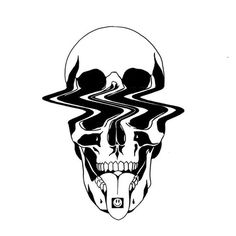 skull drawing, black ink Informationen zu Something's Gone Wrong in Tattoos by Louis Loveless Pin Si Tattoo Sketches, Tattoo Drawings, Body Art Tattoos, Art Sketches, Art Drawings, Cool Skull Drawings, Ship Tattoos, Arrow Tattoos, Graffiti Art