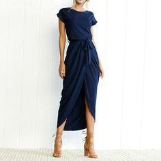 Boho Split Long Dress – The Boho Boutique