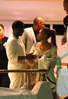 Beyoncé  & Sean Diddy Combs  On  P. Diddy's Yacht, Cannes, France. 2008