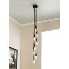 europa edison bulb bronze multi light pendant above kitchen sink