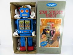 METAL HOUSE STAR STRIDER ROBOT JAPAN JAPANESE TIN TOY LIMITED EDITION BLUE | eBay