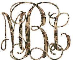3 Initials Custom Vine Monogram Camo for Your Yeti Rambler Tumbler ...