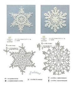 beautiful crochet snowflake - no pattern Crochet Snowflake Pattern, Crochet Stars, Crochet Motifs, Christmas Crochet Patterns, Crochet Snowflakes, Crochet Diagram, Crochet Doilies, Crochet Flowers, Crochet Stitches