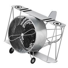 Deco Breeze Biplane Figurine Fan