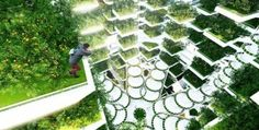 Wow! This stunning high-rise hydroponic farm has been designed for big cities across the globe