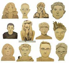 Cardboard portraits