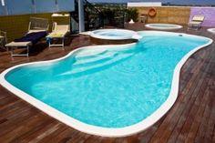Fiberglass Pool in Wooden Deck | Swimmingpool.com