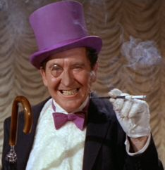 Burgess Meredith as The Penguin from the original Batman Robin Series from the The Penguin Batman, I Am Batman, Batman Robin, Superman, Batman Dark, Batman Stuff, Batman Tv Show, Batman Tv Series, Batcave