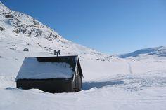 Oallavagge, Lapponia, maart 2013. Een heerlijk pauzehutje, zeker als het buiten -20 graden is. We pasten er net in met 11 man.