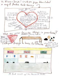 Alyson Fox Artist and Derek Dollahite Creative Director at Home in Austin « The Selby Creative People, Creative Director, Fox, Painting, Artists, Islands, Texas, Collage, Kitchen