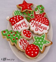 Christmas Cookies Galore – Glorious Treats from christmas sugar cookie decorating ideas Christmas Sugar Cookies, Christmas Sweets, Christmas Cooking, Noel Christmas, Holiday Cookies, Simple Christmas, Holiday Treats, Easy Christmas Cookies Decorating, Christmas Goodies