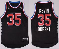 71141d7688a Thunder  35 Kevin Durant Black 2015 All Star Stitched NBA Jersey Durant  Nba