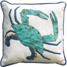 3D - King of the Chesapeake Crab Pillow: Beach Decor, Coastal Home Decor, Nautical Decor, Tropical Island Decor & Beach Cottage Furnishings