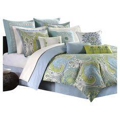 Found it at Wayfair - Sardinia Comforter Set in Blue & Green