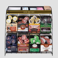 Wire Rack for 8 K-Cup® Boxes - Keurig.com. I feel like that could be made pretty easily