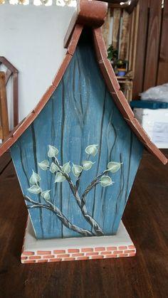 pintura gestual verso casinha passarinho