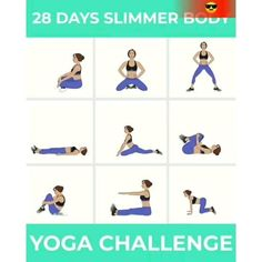 Fitness Workouts, Yoga Fitness, Fitness Workout For Women, Ballet Fitness, Fitness Motivation, Beginner Yoga Workout, Workout For Beginners, Yoga Routine, Yoga Challenge