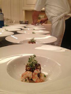 Toque Catering- Victoria BC/Silver Rill Corn and Red Quinoa Salad Spot Prawn, Chili Lime Vinaigrette/Vancouver Island Weddings