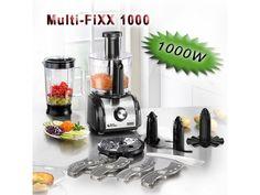Univerzální multifunkční kuchyňský přístroj s výkonným motorem cca 1000W s mnoha funkcemi jako mixování, míchání, strouhání, řezání, šlehání, hnětení i drcení.