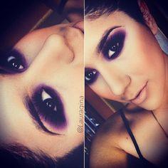 Perfect purple MakeUp by @lauracoronado_mua! Tag your makeups to #pausaparafeminices! Marque seus makes com a tag #pausaparafeminices ;) - @brutavaresppf- #webstagram