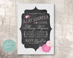 Chalkboard & Floral Shower Invitation by Beth Kruse Custom Creations