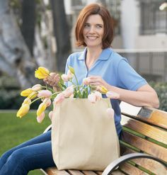 100% Organic Cotton Canvas, Gusseted, Heavy Duty Shopping Bag.