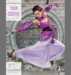 Cosplay by McCall's Top, Detached Sleeves, Skirt, and Belt, Ninja, Crouching tiger hidden dragon, female ninja, assassin, asian,