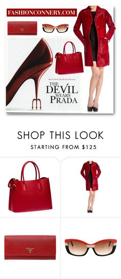 """The Devil Wears Prada"" by fashionconnery ❤ liked on Polyvore featuring Prada, women's clothing, women, female, woman, misses and juniors"