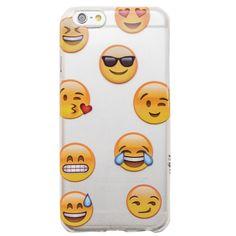 Clear Emoji iPhone 6 Case