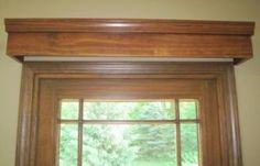 wood window valance ideas - Google Search