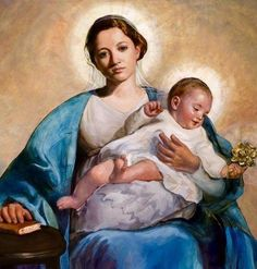 To jesus through mary: Photo Catholic Religion, Catholic Art, Religious Art, Jesus Christ Images, Jesus Art, Blessed Mother Mary, Blessed Virgin Mary, Hail Holy Queen, Images Of Mary