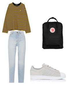 """fanwstrech"" by elzikaa on Polyvore featuring Yves Saint Laurent, adidas and Fjällräven"