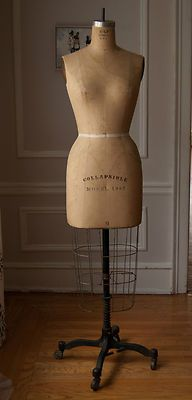Vintage 1950's Full-Size Dress Form w metal stand | Dress Form ...