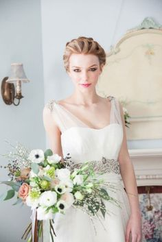 blush rose anemone flower ranunculus white green arabicum bouquet, Wedding Flowers, Weddings Niagara on the Lake, Cathy Martin Flowers, Bouquet Ideas