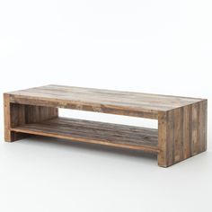 Combining the rustic charm of natural wood with contemporary designs, The Beckowurth Coffee Table celebrates the craggy charm of snow-capped mountains and clear