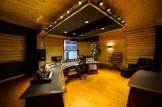 Room to listen, in Sky Harbor Studios' 675 square foot control room. (Photo credit: Brian Bradley)