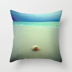 Seashell Pillow | Beach Photography | Decorative Throw Pillow Cover | Beach House Decor | Nature Photography | Beach Photograph ModernBeach