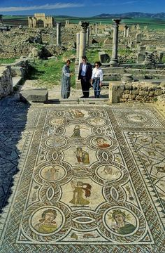 Roman Mosaic at Volubilis, Morocco Ancient City, Ancient Mysteries, Ancient Aliens, Ancient Rome, Ancient History, Places To Travel, Places To Visit, Fantasy Art Landscapes, Classical Antiquity