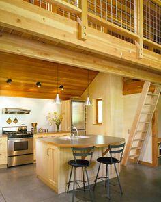 I like this loft railing/stairs combo.