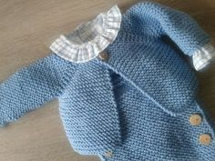 Diy Crafts - Sign in with a different account Create account Baby Knitting Patterns, Knitting For Kids, Baby Patterns, Baby Girl Cardigans, Baby Sweaters, Tricot Baby, Spanish Baby Clothes, Knitted Baby Clothes, Baby Kind