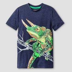Boys' Lizard Graphic T-Shirt Cat & Jack™ -  Navy