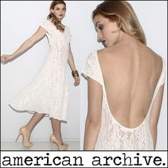 Sheer lace open back