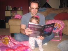 Steve reading Lily her favorite bedtime book, The Pillow Fairy. Children's Picture Books, Bedtime Stories, Go To Sleep, Your Child, Anna, Fairy, Pillows, Reading, Kids