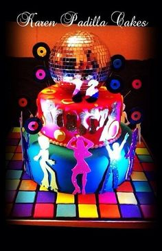 disco party cakes | Disco Party Cake | Flickr - Photo Sharing!