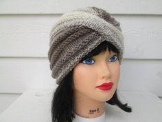 Ready to ship (37)  Beautiful one of a kind womens winter hat  Сlassiс , Stylish, soft, cozy, elegant turban in beautiful CREAM/BLACK  Warm and