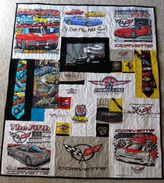 Too Cool T-Shirt Quilts - including ties & pieces of 5 hats!