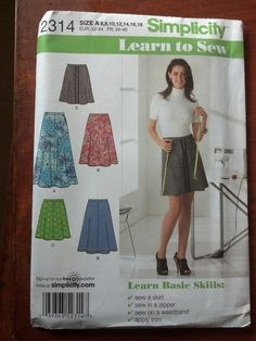 Simplicity 2314 - Learn to Sew Skirt